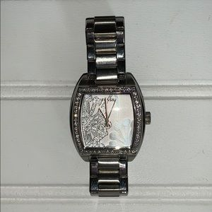 Fossil watch with rhinestone accents